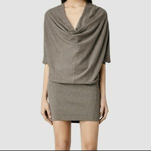 All Saints Edgar Cowl Dress